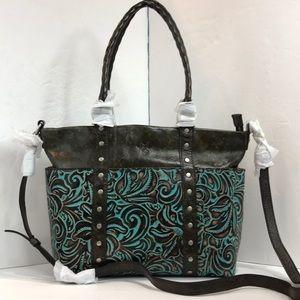 Patricia Nash Talloria Turquoise Tote Shoulder Bag